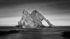 Bow Fiddle Rock, B&W.jpg (___INFINITY___) Tags: longexposure bw seascape beach canon eos coast scotland arch aberdeenshire infinity geology 6d morayfirth portknockie innamoramento bowfiddlerock darrenwright dazza1040