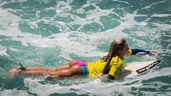 SuperGirlPro (Schoonmaker III) Tags: sports yellow surfer surfing pacificocean surfboard surfergirl surferchick oceansideca prosurfer wsl supergirljam supergirlpro worldsurfleague