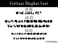 Fruitees Dingbat Font (vndorstock) Tags: shadow college sport tattoo modern vintage poster athletic tech display snake decorative grunge wide machine line used headline headlines font techno python washed effect exclusive bold typeface ttf truetype