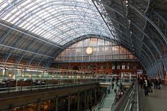 St. Pancras International (elisecavicchi) Tags: uk london station st train europe interior united kingdom international pancras