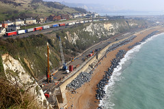The ongoing repairs to the sea wall at Shakespeare Cliffe, Dover (Jelltex) Tags: seawall dover shakespearebeach jelltex jelltecks