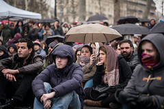 "7me nuit d'occupation de la Place de la Rpublique par le collectif ""Nuit debout"" - Paris, 6 avril 2016 (ND_Paris) Tags: paris france pluie jeunesse revolution greve fra manif manifestation parapluie occupation jeune occupy revolte nuitdebout"