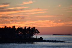Tropical Evening (ChristopherSmith.Photo) Tags: ocean trees sunset sea sky reflection beach silhouette clouds relax coast florida calm serene keywest