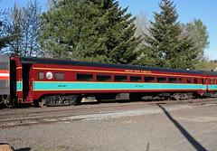 Mount Hood Railroad #901, Mount Hood.  Ex Northern Pacific 505 (1946).  Hood River Oregon, April 2 2016. (Dan Haneckow) Tags: hoodriver northernpacific 2016 mounthoodrailroad passengercars spiritoforegondinnertrain mh901