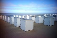 cabins on the beach (Bob Diderich) Tags: leica colour beach coast huts belgian m9 minitar1
