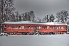 Deserted Train Car (jdtfscheffler) Tags: winter snow train rail line machinery trucks passenger soo upperpeninsula hdr