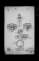 Locking device for incandescent light bulbs, patent number: 189374 / Cadenas d'ampoule électrique, numéro de brevet : 189374 (BiblioArchives / LibraryArchives) Tags: toronto ontario canada lightbulb cadenas lock lac patents innovation invention bac libraryandarchivescanada brevets bibliothèqueetarchivescanada ampouleélectrique 18691919 johnwalterhaugh july51918 5juillet1918 april11919 1avril1919