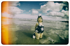 bo in the sea fx (Mark Rigler UK) Tags: blue sea england sky wet water girl big fat size lass dorset plus bo boob sandbanks poole