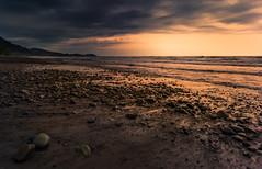 Golden Hour (jbrambaud) Tags: ocean light sunset sea sun landscape gold sand nikon d3s