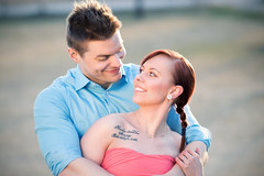 Greger & Victoria (tomasbaliukonis) Tags: sunset portrait cold smile face look tattoo finland outside spring couple photoshoot bokeh young freezing together portraiture lovebirds vaasa finalnd