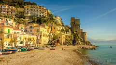 Good morning Cetara. (WaSz-Fotograf) Tags: travel blue light sunset sea sky italy sun white green beach water beautiful beauty yellow clouds coast campania naples amalfi 500px ifttt
