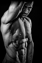 Matze (tschischek) Tags: light boy portrait blackandwhite man hot sexy men sport studio naked nude lights akt body muscle flash hard buddy portrt flashlight strong mann rough fitness sixpack sporty jinbei homestudio fitnessmodel musclewhorship
