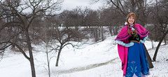 Anna at the Falls -10 (YGKphoto) Tags: park winter anna snow cold minnesota frozen costume cosplay outdoor minneapolis disney minnehaha