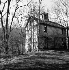 (.tom troutman.) Tags: abandoned 120 6x6 film analog blackwhite nj delta bronica 100 40mm ilford sqai