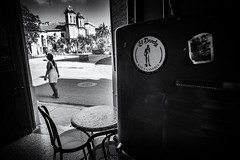 El Dandy (Fuji and I) Tags: street blackandwhite monochrome bar cafe havana cuba alexarnaoudov