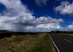 Northumberland... (Moonbags) Tags: sky sun snow rain hail wind northumberland triumph 1050 speedtriple