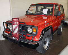 Land Cruiser Turbo (The Rubberbandman) Tags: auto old classic car japan vintage germany japanese essen 4x4 turbo german toyota land techno vehicle suv cruiser fahrzeug offroader classica