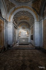 MG-18 (StussyExplores) Tags: italy abandoned stairs italian barrels decay olive grand mg explore villa oil mansion exploration derelict fresco cellar ceilings urbex