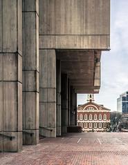 Boston's public faces (wamcclung) Tags: plaza city boston architecture modern cityhall georgian urbanism bullfinch faneuilhall pediment gable brutalist kallmannmckinnell
