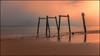 Still Standing (BlueberryAsh) Tags: ocean longexposure cloud holiday beach fog sunrise coast pier seaside sand nikon jetty australia victoria ventnor phillipisland oldjetty nikon24120 catbay nikond750