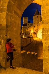 Fotografiando en Carcasona. (David Andrade 77) Tags: france cit bluehour chateau francia carcassonne castillo mediaval carcasona horaazul