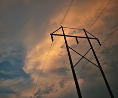 powerline (dr_scholz@ymail.com) Tags: sunset sky silhouette clouds powerline thunderstorm leicam9 summicronm28mmf2asph