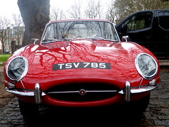 Jaguar E-Type Front (badhands13) Tags: winter red face bristol front british jaguar etype