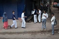 9132 Schoolboys , so carefree !--Old Delhi , India (ngchongkin) Tags: india delhi schoolboys earthasia wonderfulasia