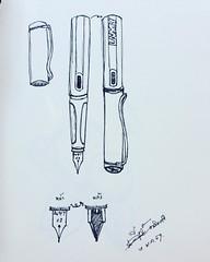 Lamy คิดไม่ออกเลยวาดปากกาตัวเอง #lamy #sketch #artist #draw #drawing #art #thongkham #kiattisak