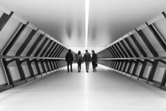 Crossrail Place (AdaMoorePhotography) Tags: people white black london nikon strangers tunnel crossrail d7200