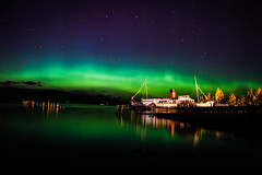 Module 11 (chrissyboys) Tags: longexposure green scotland nikon astro aurora loch lightshow balloch lochlomond northernlights maidoftheloch