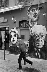 Streets of Marseille (Jemira Photo) Tags: street leica bw man france film analog blackwhite marseille hp5 mp beret ilford selfdeveloped
