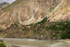 Panj river and Afghan village on opposite side (Michal Pawelczyk) Tags: holiday afghanistan june asia fuji tajikistan centralasia pamir afganistan x10 2015 czerwiec azja pamirhighway azjasrodkowa tadzykistan