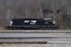NS 3491 (irail2010) Tags: railroad ns lackawanna emd sd402