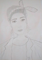 ilustrao_menina com leno na cabea_mayara vellardi (mayara_vellardi) Tags: bob moa esponja menina colar ilustrao desenho lao prolas winxs lapisepapel
