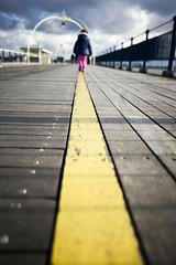 southport2 (matthewheptinstall) Tags: seaside perspective littlegirl yellowline offfocus southportpier soutyhport