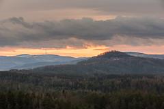 Evening view of Krun Hory / the Ore Mountains, Czech Republic (Michal Petro) Tags: travel sunset clouds forest hills czechrepublic erzgebirge utumn oremountains krunhory czechswitzerland eskvcarsko