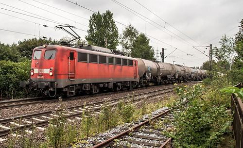15.08.2006 Gelsenkirchen Bismarck. DB 140 757 mit gem Güterzug Bottrop