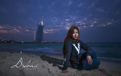 The Twilight And The Burj Al Arab (argel_ph) Tags: travel woman dubai uae burjalarab pinay expat ofw
