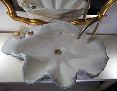 Gold Sink 8 (LittleGems AR) Tags: ocean sea sculpture sun beach home statue stone giant bathroom shower gold aquarium soap sand bath crystals hand contemporary unique decorative shell craft style toilet towel clam basin special clean shampoo taps wash ornament gift present pearl reef spa figures gems opulent gem fossils oneoff clamshell mollusks cloakroom bespoke personalised tridacna sculpt crafted gigas facetowel