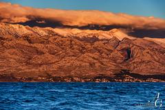 Red Wall in the Blue World (TranceVelebit) Tags: blue red sea mountain snow clouds wind snowy croatia windy limestone karst range bora adriatic dalmatia bura velebit dinaricalps paklenicanationalpark razanac svetobrdo paklenicanp