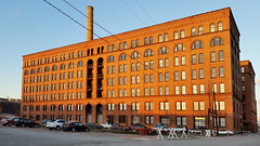 Armstrong Cork Factory, last light, Strip District, January 19, 2016 (real00) Tags: city urban building brick industry architecture landscape flickr pittsburgh factory pennsylvania historic stripdistrict urbanlandscape dwellings westernpennsylvania 2000s 2016 railroadstreet alleghenycounty 2010s pittsburghregion willreal williamreal