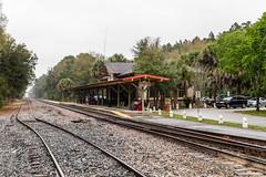 DeLand station 2015-03-06 (Michael Erhardsson) Tags: travel usa station florida unitedstatesofamerica railwaystation amtrak deland 2015 jrnvgsstation