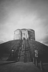 Clifford's Tower (Matthew-King) Tags: york white black castle monochrome medieval cliffordstower