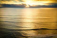IMG_3934.jpg (MinnesotaDavis) Tags: ocean california blue light sunset color water yellow waves bigsur highway1 ripples westcoast davisphotography mitchelldavis