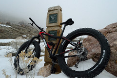 DSC_8423 (videopelli2010) Tags: winter mountain snow cold fog utah shoreline trail inversion ogden bonneville fatbike