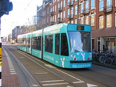 Meals delivered by Tram ? (streamer020nl) Tags: holland netherlands amsterdam nederland restaurants tram delivery 13 strassenbahn niederlande gvb 2016 clercqstraat 2092 bezorging 280116 delivroo
