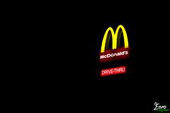 McDonald's Drive-Thru (Eero Capita) Tags: brussels saint sign la nikon neon jean bruxelles waterloo brussel mont macdonald mcdo dx eero 18105 2016 capita braine lalleud d7100 eerocapita