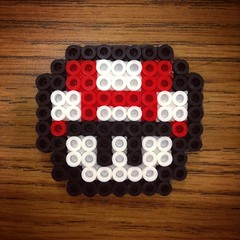 Mario beads (the ghost in you) Tags: mushroom kids crafts nintendo mario snes supermariobrothers supernintendo fusebeads perlerbeads
