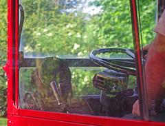 DB918.  RML899 Driving Cab. (Ron Fisher) Tags: uk greatbritain red england bus europe pentax unitedkingdom transport gb vehicle routemaster publictransport essex doubledecker rm londontransport pentaxkx northweald heritagerailway rearentrancebus eppingongarrailway heritagebus halfcabbus rm1966 rml899